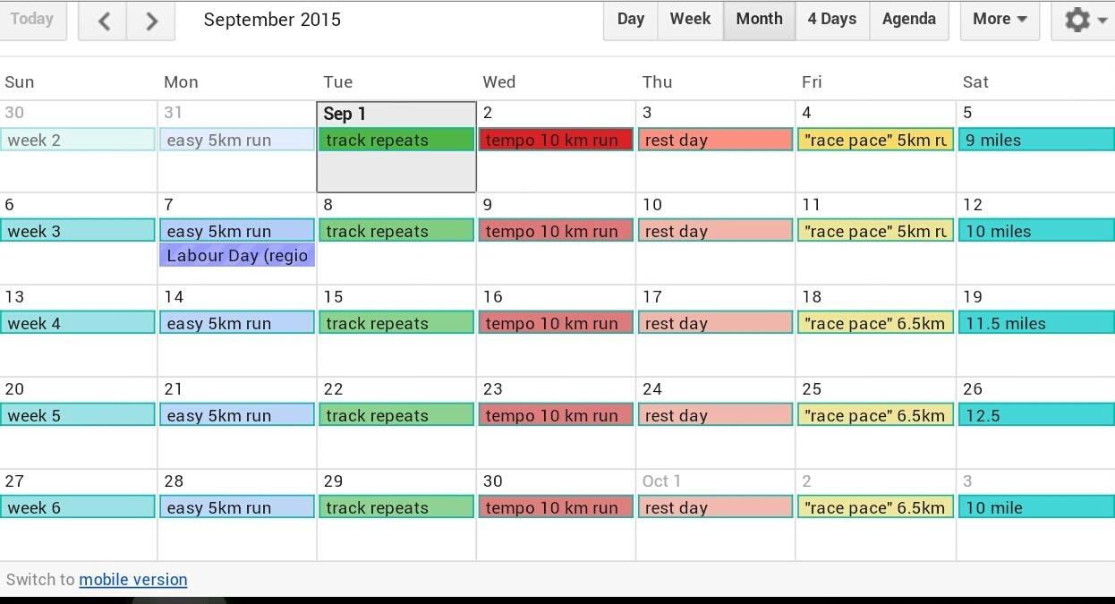 WFPS Half Marathon Training Schedule/Ninjago party recap ...